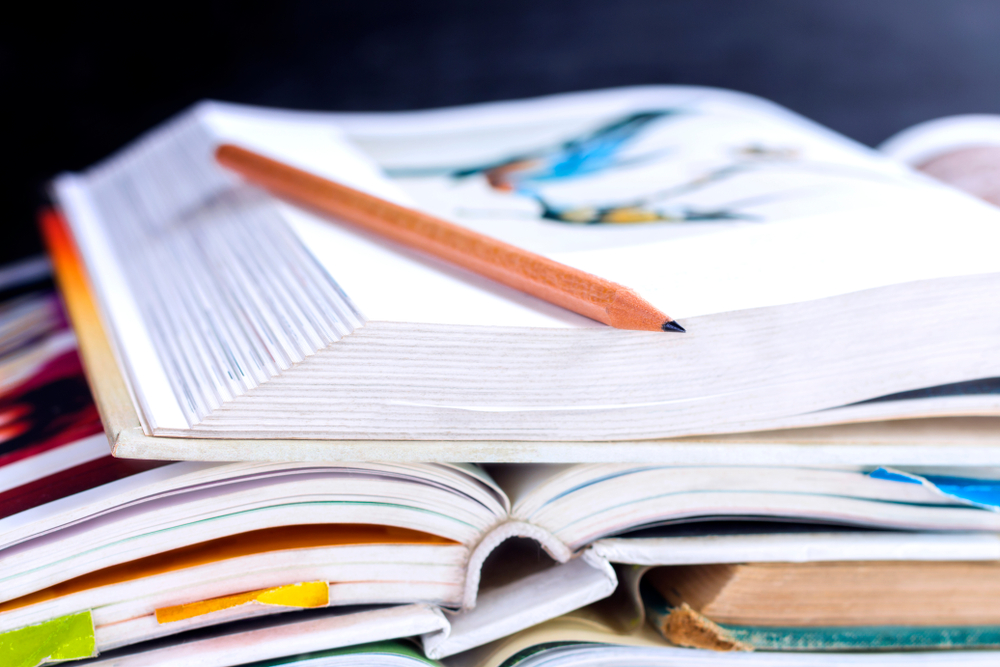 Stack of textbook rentals
